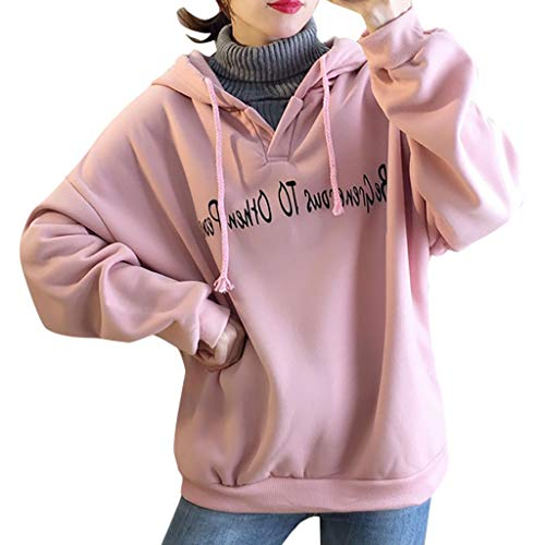 Best Price Sweatshirts for Women Pullover,Solid Color Korean Letter Printing Wool Collar High Plus V...