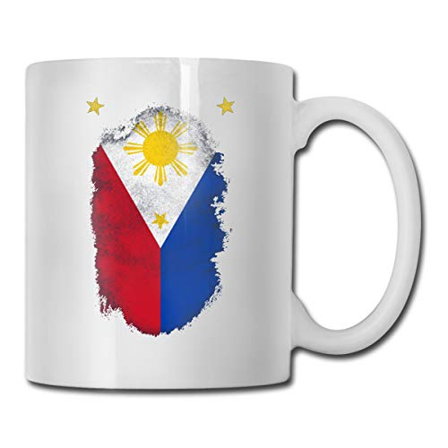 Philippines Pride Star111 Personalized Coffee Mug Tea Cup White Gifts T Mothers Day Gifts, Father's Day Gifts, Christmas Gifts, Grandma Grandpa Gifts