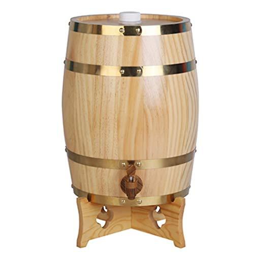 catch-L Barril Barril De Vino Vertical Separador De Vino Grifo De Madera Madera Maciza Barril De Vino Blanco Barril De Cerveza (Color : Wood, Size : 10L)