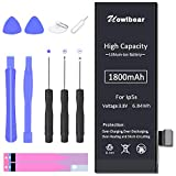 uowlbear 1800mAh Replacement Battery for iPhone 5s A1453 A1457 A1518 A1528...