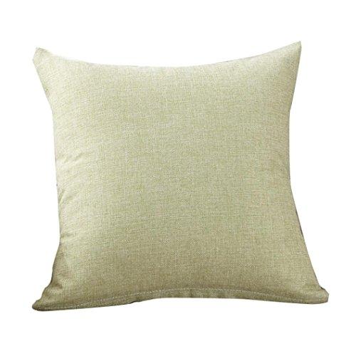 UBabamama Housse de coussin de couleur unie, simple, tendance, pour café, canapé, décoration de la maison (vert)