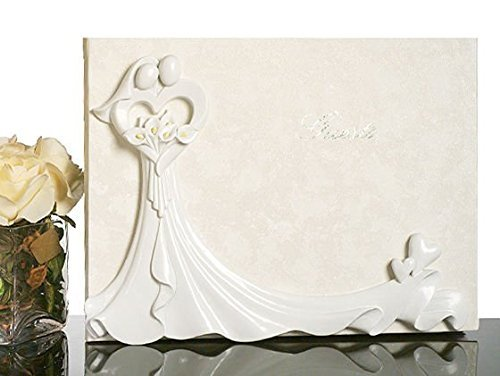 Bride And Groom With Calla Lily Bouquet Guest Book C423 Quantity of 1