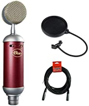 Blue Spark SL Large-Diaphragm Studio Condenser Microphone with XLR Cable and Pop Filter Bundle