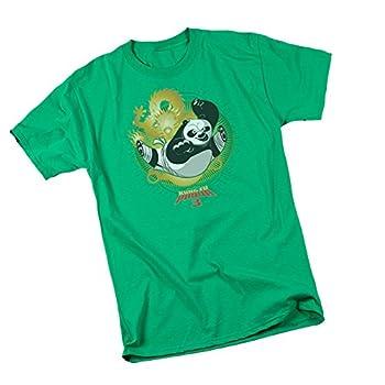 Dragon Po - Kung Fu Panda 3 Adult T-Shirt XXX-Large Green