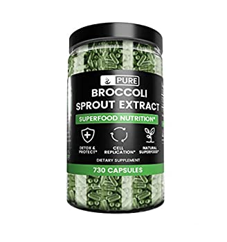 Broccoli Sprout Extract  730 Capsules  Natural Gluten-Free Preservative-Free Digestion*