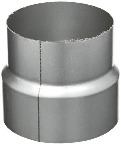 Kamino Flam Reduzierung silber, rostfreie Rohrreduzierung aus feueraluminiertem Stahl, geprüft nach Norm EN 1856-2, zum Anschluss von 120 mm in ein 110 mm Rohr