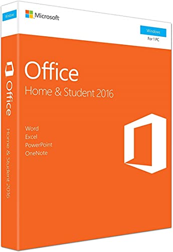 Office 2016 Home and Student - English - New - 1 PC - Box - KeyCard - Word Excel PowerPoint OneNote - Office Home and Student 2016 for PC