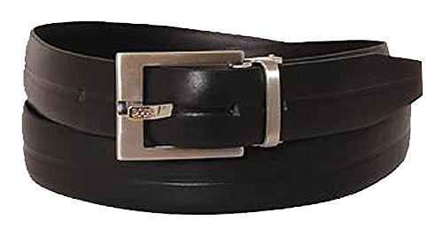 BOSS Ceinture unisex casual belt leather black