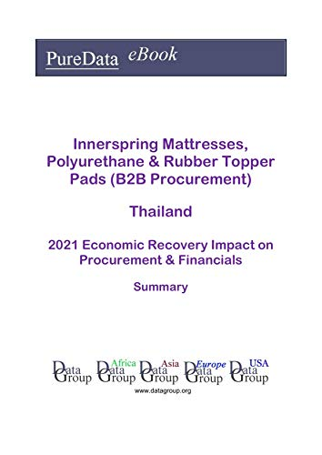 Innerspring Mattresses, Polyurethane & Rubber Topper Pads (B2B Procurement) Thailand Summary: 2021 Economic Recovery Impact on Revenues & Financials (English Edition)
