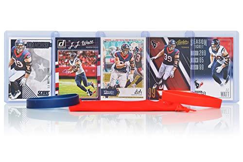 J.J. Watt (5) Assorted Football Cards Bundle - Houston Texans Trading Cards