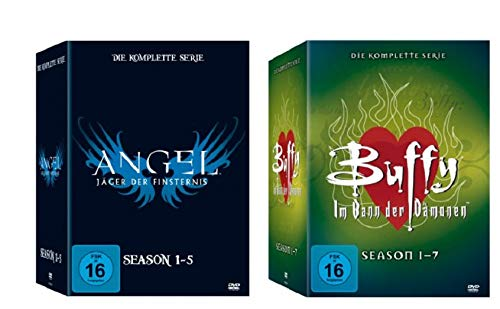 Angel - Jäger der Finsternis Box Staffel 1-5 + Buffy - Box Im Bann der Dämonen Staffel 1-7 [Komplettbox Set]