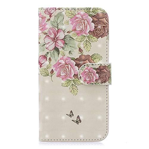 Miagon Flip Hülle für Galaxy M20,3D Luxus Bookstyle Magnetverschluss Klapphülle Kartenfächer Schutzhülle Brieftasche Ledertasche Wallet Lederhülle Etui für Samsung Galaxy M20