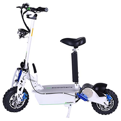 4MOVE XT03 Scooter eléctrico 50 km/h 2000 W Motor 60 V 18 Ah batería de litio, Scooter eléctrico, scooter eléctrico, scooter eléctrico, pantalla LCD, frenos de disco, faros LED, Blanco