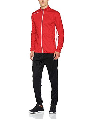 uhlsport Kinder Essential Classic Anzug Trainingsanzug, rot/Weiß, 128