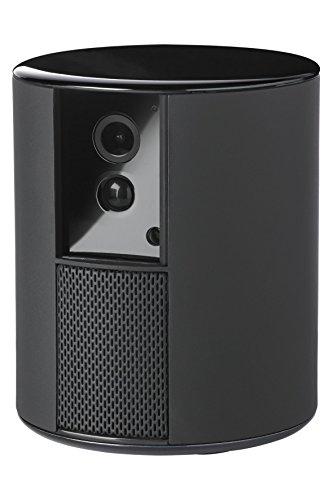 Somfy 2401492 Somfy One Smart Home drahtlose Überwachungskamera (mit integrierter 90+ Db Sirene, 1080P Full-HD, Bewegungserkennung, Automatische Kamera-Blende) schwarz