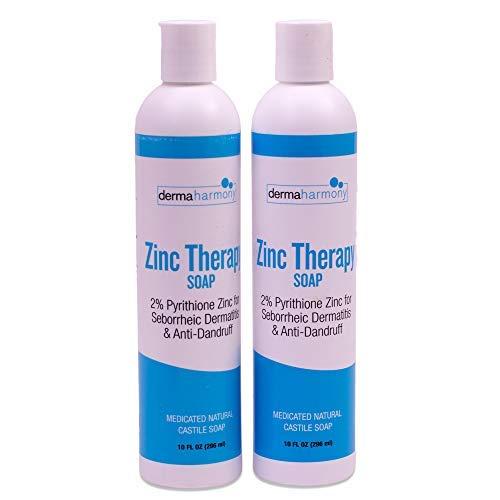DermaHarmony 2% Pyrithione Zinc (ZnP) Liquid Castile Soap (Two Bottles)