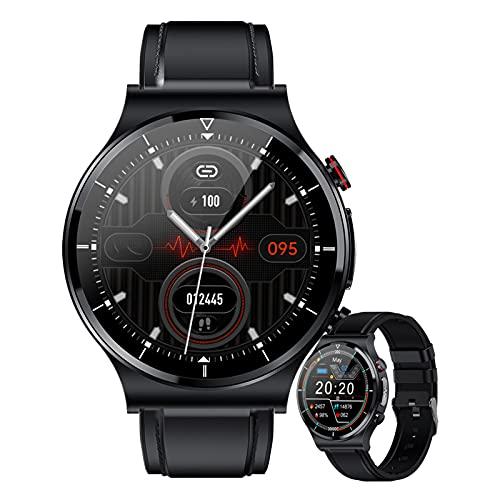 HQPCAHL Smartwatch Hombre Reloj Inteligente Mujer 1.32 Smart Watch Impermeable IP68 con Temperatura Corporal Monitor De Frecuencia Cardíaca Monitor De Sueño Podómetro Actividad para Android iOS,B