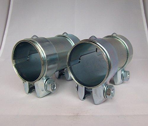 2 Stück Auspuff Rohrverbinder/Klemmschelle/Doppelschelle Ø 65 x 125 mm