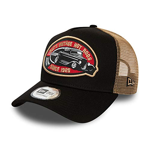 New Era Hot Rod Cap Auto Trucker Verstellbar Kappe Basecap Braun - One-Size
