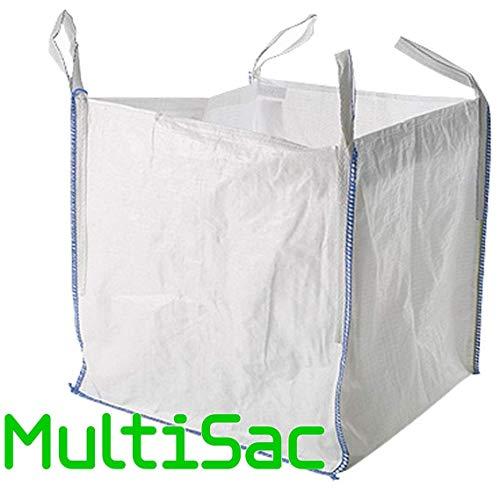 MULTISAC. Big Bag 90x90x90cms. FIBC 1000 KG. Ideal para gestión de escombros, tierra, transporte de áridoso, etc.