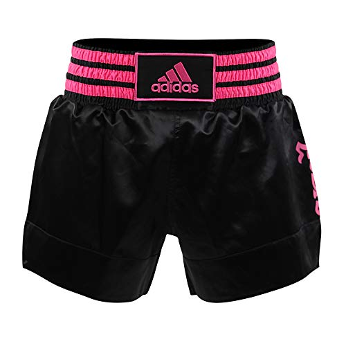 Adidas Shorts de boxeo tailandés - negro-rosado Large