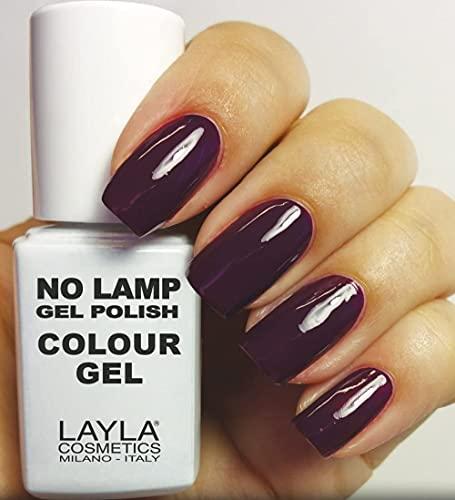 Layla Cosmetics Milano no Lamp Gel Polish Smalto per unghie Purple Dance