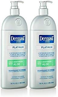Loción hidratante facial | Loción corporal de piel seca y protección facial para calmar y suavizar | Dermasil Labs Dermatólogos Tratamiento recomendado botella de bomba.