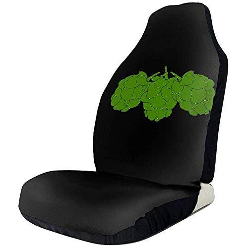 fingww Car Seat Covers Beer Hops Fundas para Asientos De Automóviles Pistas De Neumáticos Flexibles Accesorios para Asientos De Automóviles 2 Piezas para Automóviles SUV De Camiones