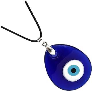 3 قطع التركية الزرقاء الشر سحر قلادة قطرة الماء الزرقاء همسة العين الخرزة قلادة للرجال مجوهرات الرجال الديكور الداخلي للسيارة