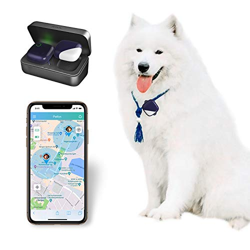 PETFON Pet GPS Tracker, No Monthly Fee, Real-Time Tracking Collar Device, for Dogs and Pets Activity Monitor(Only for Dogs)
