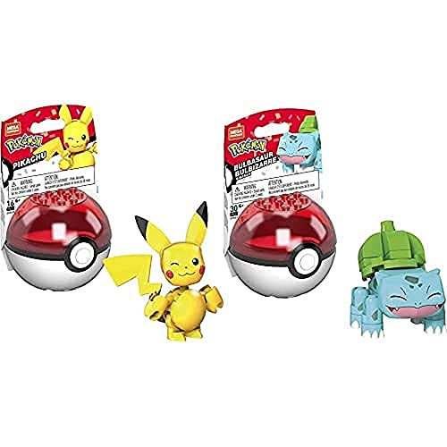 MEGA Construx Pokémon Pikachu [Amazon Exclusive] and Bulbasaur [Amazon Exclusive]