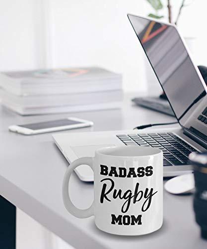 N\A Regalo para mamá - Mamá de Rugby rudo - Taza de Rugby - Regalos de Rugby - Taza para mamá de Rugby - Idea de Regalo para mamá