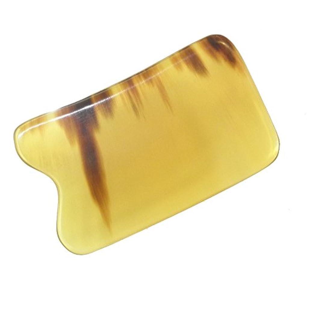 スクワイアまだら不愉快かっさ プレート 厚さが選べる 水牛の角(黄水牛角) EHE219SP 四角凹 特級品 少し薄め(4ミリ程度)