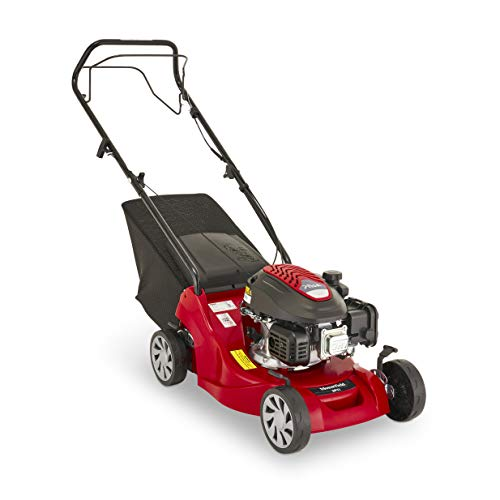 Mountfield HP41 Petrol Lawnmower, Hand-propelled, 39cm cutting width, 123cc ST120 Autochoke petrol engine, Up to 250m², Includes 40L grass collector