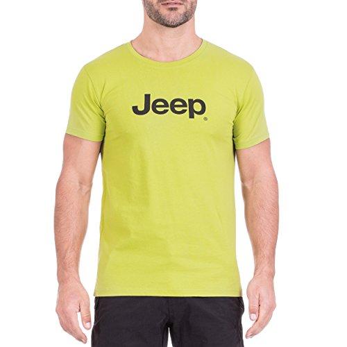 Jeep T-Shirt pour Homme avec Logo J8s XL Macaw Vert/Noir.