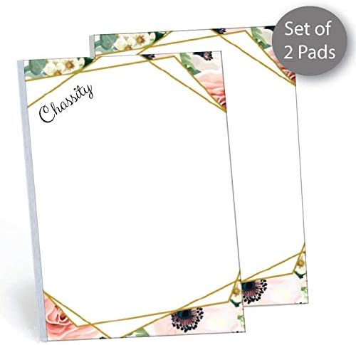 Custom Wine Glass Notepad  50 sheets per stack stationery text 4x5.5 size  gift idea personalized teacher appreciation customize