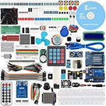 KeyWish Super RFID Sensor Starter Kit With Tutorial (28 Lessons) For Arduino UNO R3 With Rain Sensor Water-level Sensor Siol Humidity LCD1602 Screen Ultrasonic Sensor RGB RC522