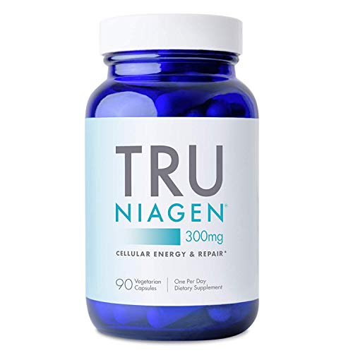 TRU NIAGEN NAD+ Booster Supplement Nicotinamide Riboside NR for Energy Metabolism, Cellular Repair & Healthy Aging (Patented Formula) More Efficient Than NMN - 90 Count - 300mg (3 Months / 1 Bottle)