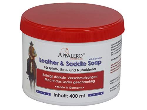 APPALERO Western Care Leather and Saddle Soap Sattelseife mit Glycerin, 400 ml