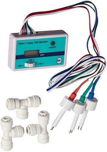 HM Digital Triple Inline RO/DI TDS Monitor mit 1/4 Zoll T-Armaturen