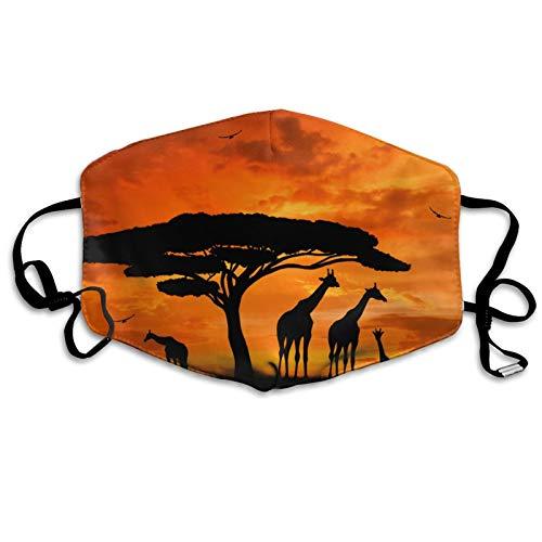 jhgfd7523 Cubierta para la boca, increble jirafa del bosque africano, lavable, reutilizable, bufanda para la boca para nios y adultos