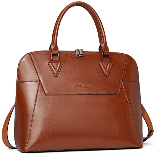 BOSTANTEN Briefcase for Women Leather 15.6 inch Laptop Shoulder Bags Office Work...