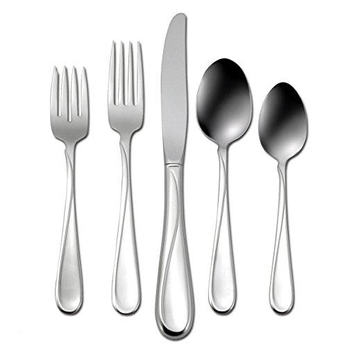 Oneida Flight 65 Piece Everyday Flatware, Service for 12, 18/0 Stainless Steel, Silverware Set, Dishwasher Safe