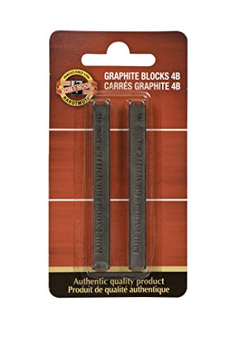 Koh-I-Noor FA4390.4BBC Gioconda Artist Graphite Blocks 4B, 2-Pack