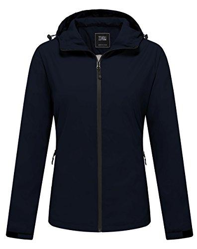 ZSHOW Women's Lightweight Summer Windbreaker Packable Windproof Jacket with Hood(Navy,X-Large)