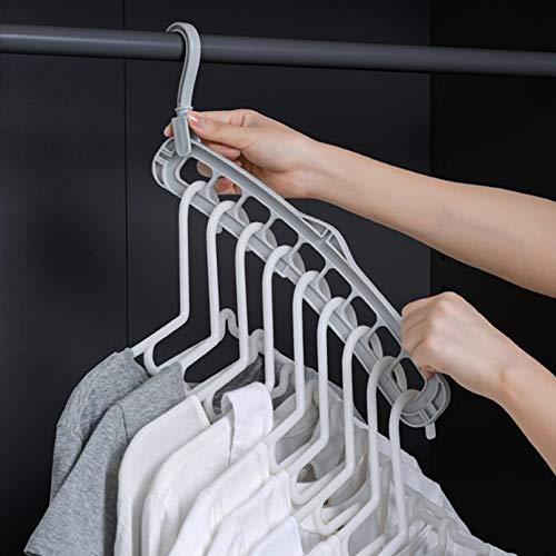 TYOLOMZ Kleiderbügel mit mehreren Anschlüssen, aus Kunststoff, gebogene Wäscheständer für Babys