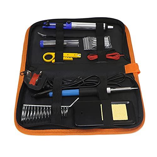 Soldador de temperatura ajustable de 60 W, kit de soldador eléctrico 110 V 220 V Juego de herramientas de soldadura de temperatura ajustable para cualquier entusiasta de los pasatiempos(220V欧规)
