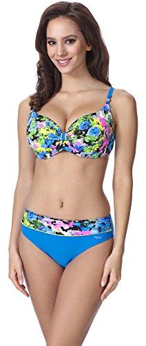 Feba Figurformender Damen Push Up Bikini F10 (Muster-319, Cup 80E / Unterteil 40)