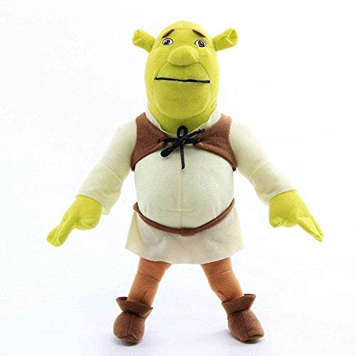N-L Anime Cartoon Shrek Princess Fiona Gingerbread Man Donkey Plush Toys Peluche Cartoon Dolls Kids Gift 30Cm-38Cm-33Cm_