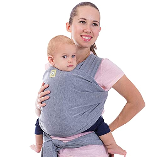 Baby Wrap Carrier - All in 1 Stretchy Baby Sling - Ergo Carrier Sling - Baby Carrier Wraps - Baby Carriers for Newborn, Infant - Baby Holder Straps - Baby Slings - Baby Sling Wrap (Classic Gray)